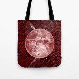 Red Moon Witch Tote Bag