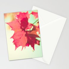 Red Maple Leaf in Autumn Stationery Cards