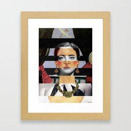 Frida Kahlo's Self Portrait Time Flies & Joan Crawford Framed Art Print