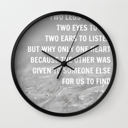 We were given Wall Clock
