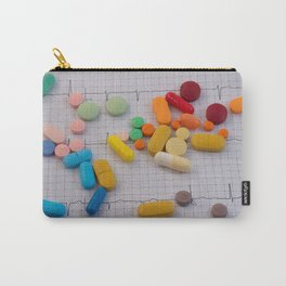 Drugs in the form of colored medicines. Carry-All Pouch