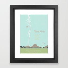 Moonrise Kingdom - minimal poster Framed Art Print