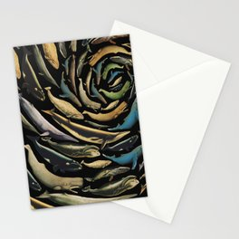 black whales Stationery Cards