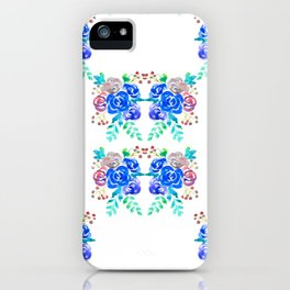 Blue Roses iPhone Case