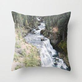 A Shortcut (McCloud Falls) Throw Pillow