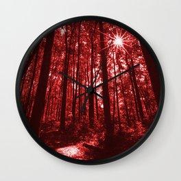 Shenandoah Red Wall Clock