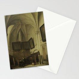 Johannes Bosboom - Vestry of the Church of St Stephen in Nijmegen Stationery Cards