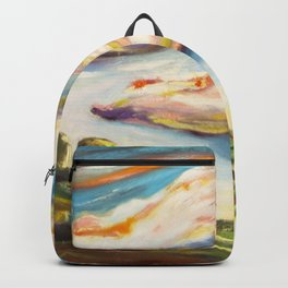 Color clouds in the valey Backpack