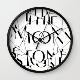 The Moonstone. Wilkie Collins Wall Clock