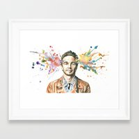 james franco Framed Art Prints featuring Mind Blown::James Franco by James Murlin