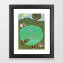 A Lake in the Sun Framed Art Print