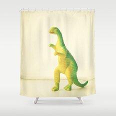 Dinosaur Attack Shower Curtain