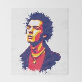 Sid Vicious Throw Blanket