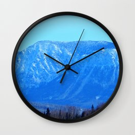 Chic-Choc Blue Mountains Wall Clock
