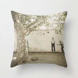 Petanque in Italy Pisa Tuscany Throw Pillow