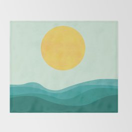 The Sea Throw Blanket