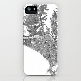Lima White Map iPhone Case
