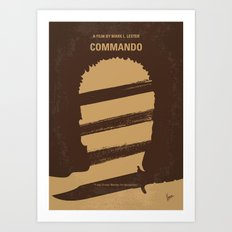 No834 My Commando minimal movie poster Art Print