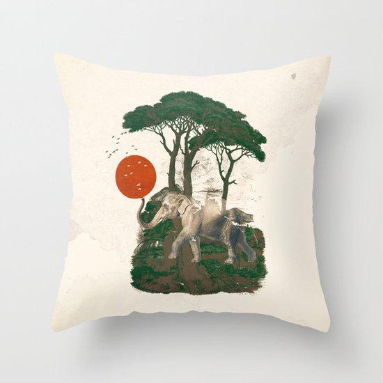 Savanna Sunrise Throw Pillow