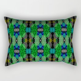 Snowflakes III in Greens Rectangular Pillow