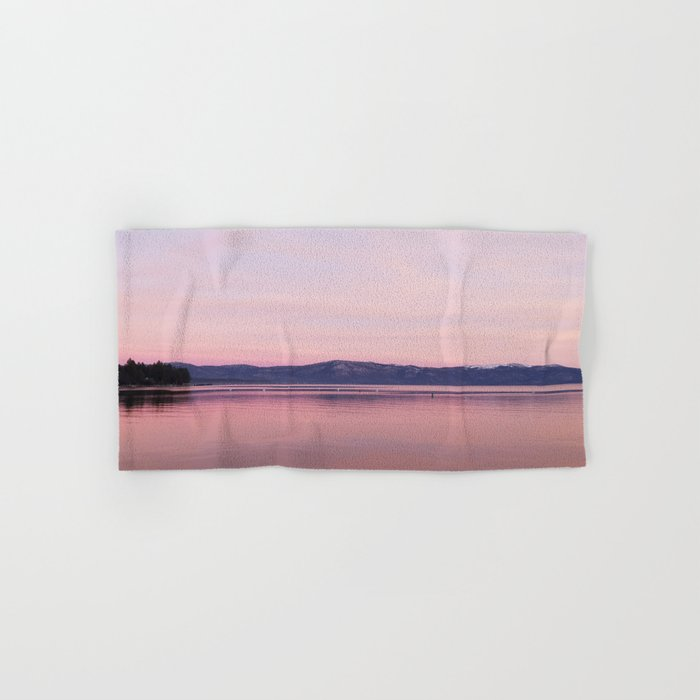 Rose Colored Dream Of Lake Tahoe Hand Amp Bath Towel By
