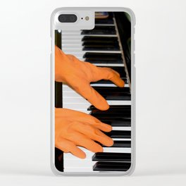Quiet piano Clear iPhone Case