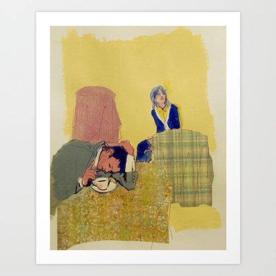 hung over Art Print