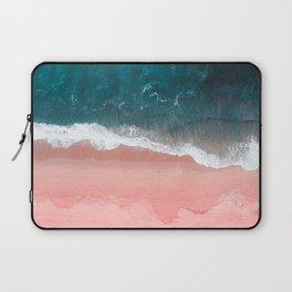 Turquoise Sea Pastel Beach III Laptop Sleeve