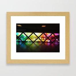 Rainbow airport Framed Art Print