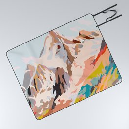 glass mountains Picnic Blanket