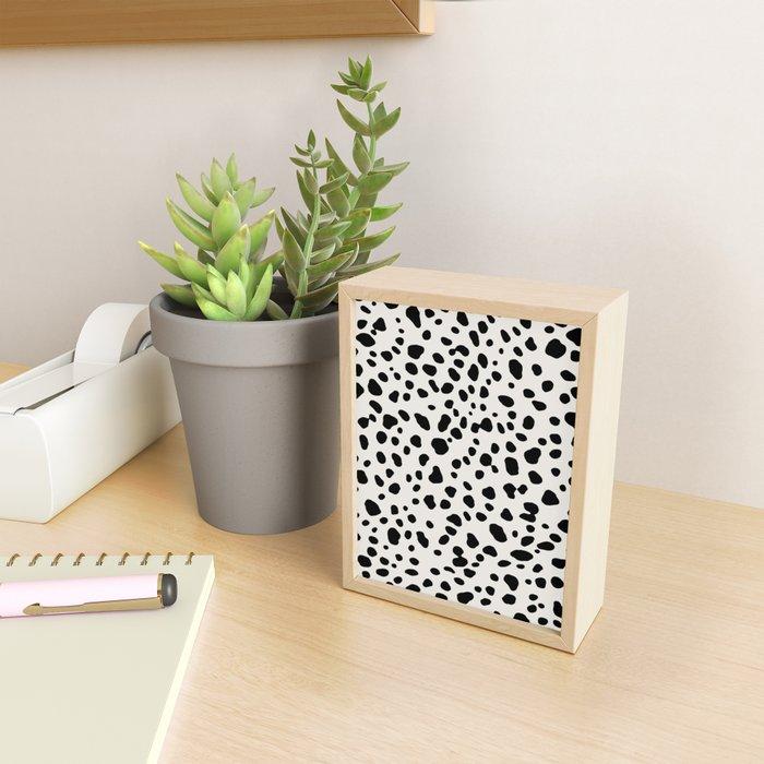 Polka Dots Dalmatian Spots Framed Mini Art Print