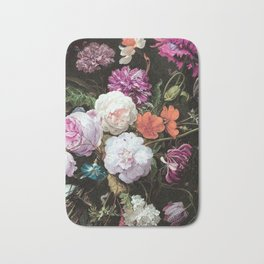 Vintage Flowers and Bugs Bath Mat