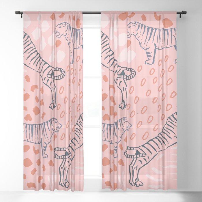 Tiger Print Sheer Curtain