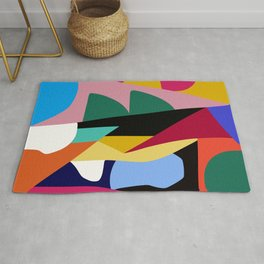 Abstract Colorful Mid Century Rug