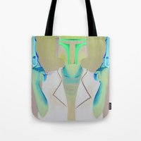 boba Tote Bags featuring Boba by Yewot