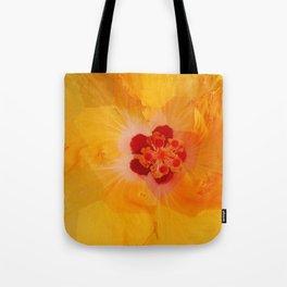 Gold Hibiscus Tote Bag
