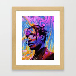 Asap Rock blue and water color Framed Art Print