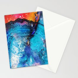Watercolor painted agate marble Stationery Cards