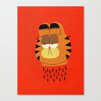 garfield Canvas Prints featuring Garfield by Jack Teagle