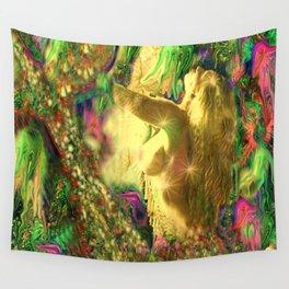 Nude mermaid & jelly fish ladykashmir Wall Tapestry