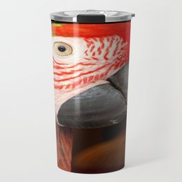 A Beautiful Bird Harlequin Macaw Portrait Travel Mug