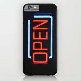 open orange iPhone Case