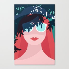 Red Hair Woman Canvas Print