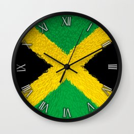 Extruded flag of Jamaica Wall Clock