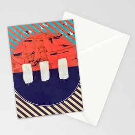 Stitch in Time - circle graphic Stationery Cards
