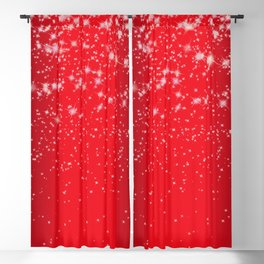 droppin stars red Blackout Curtain