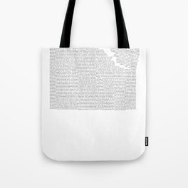 Erosion & Typography 2 Tote Bag