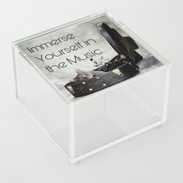 Milonga Cat - Immerse Yourself in the Music Acrylic Box
