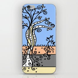 Strong Roots - Blue Mustard Yellow iPhone Skin