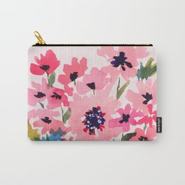 Peachy Wildflowers Carry-All Pouch